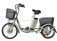 Highly portable mini electric tricycle moped with 36v 250w lithium battery