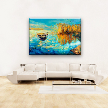 Modern decoration home watercolor wall autumn landscape painting