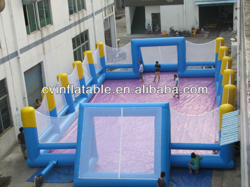 inflatable water football pitch/water soccer pitch