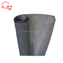 High porosity water resistance compound fiber glass felt for construction
