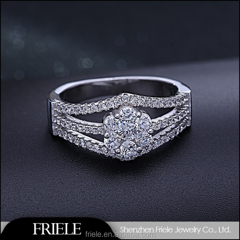 CRAZY SALES pure crystal fashion s925 silver ring for girl