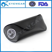 PU Material and Black Color High quality custom soft leather carring eyewear case sunglass protective case (NVC8003)