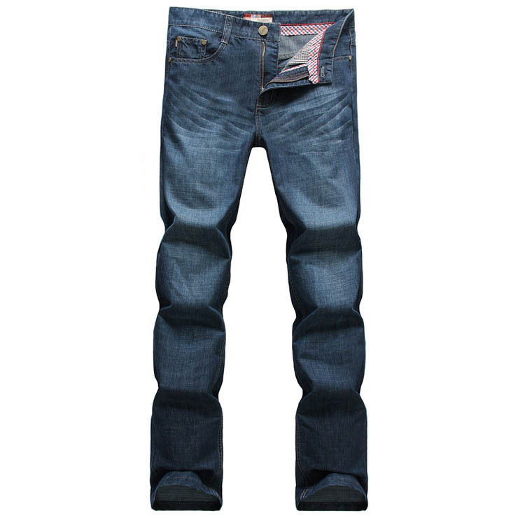 Large Size Jeans Men 40 42 Fashion Brand Button Design Cotton Autumn Spring Wear Jeans Famous Brand Mens Jeans Blue 2015 New