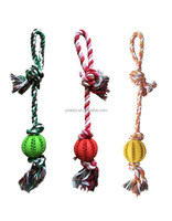 Dog Chew Rope with Strong Play Ball Pet Toy
