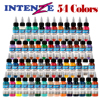 Solong tattoo supplies 54 color permanent pigment makeup ink