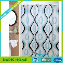 Hot Water Transfer Printing Bathroom Curtain, Mildew Resistant Printed Polyester Fabric Shower Curtain
