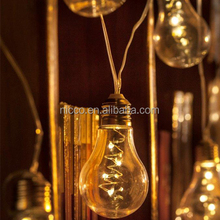 decorative bulbs led silver wire lights