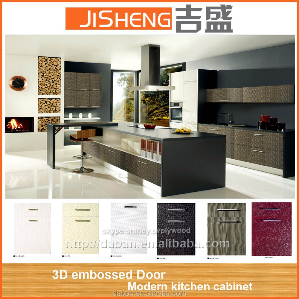 3d embossed china kitchen cabinet kitchen cabinet simple for Chinese kitchen cabinets