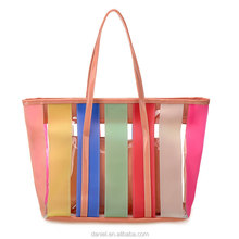 new style summer candy PVC clarity bags handbags women beach bags 2017