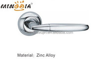 Chrome Zamak Door Handle Duo Finish Levers on Rose
