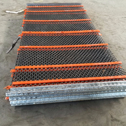Wholesale low price higher wear resistance polyurethane mining screen mesh vibrating sieve mesh with hooks