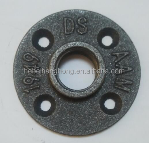 female connection and casting technics floor flange black malleable <strong>iron</strong>