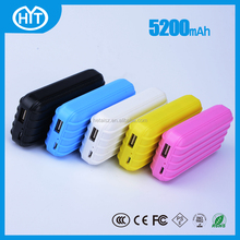 high capacity portable mobile phone charger shenzhen factory price custom color usb stick mobile phone charger luggage
