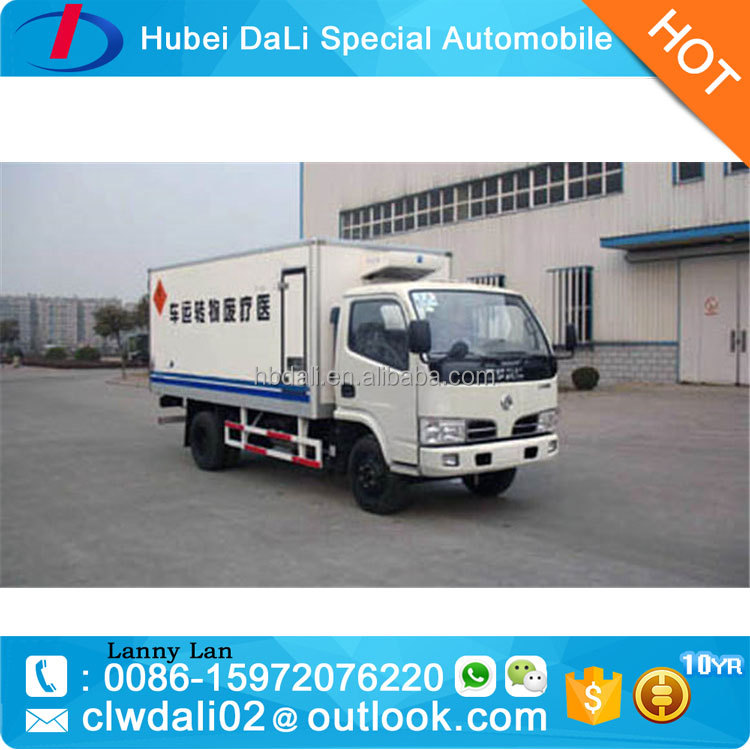 Dongfeng 4x2 medical waste truck freezer van truck