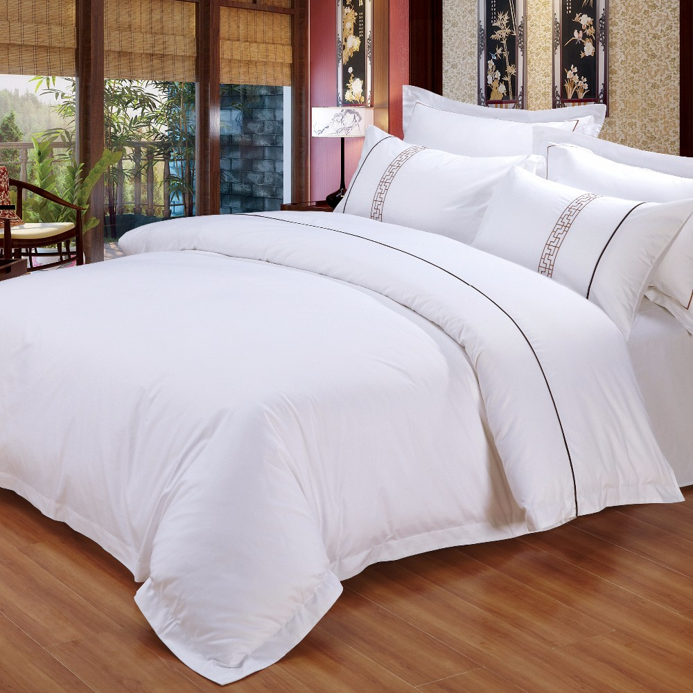 High Quality Hotel Bedding Linen 100 Cotton Bed Sheet Set