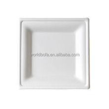 Biodegradable disposable sugarcane bagasse pulp charger dinner plates for wedding
