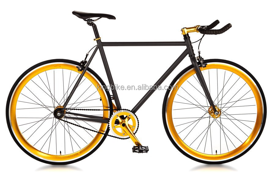 Steel Frame Gear Single Speed Sport Road Track Bicycle