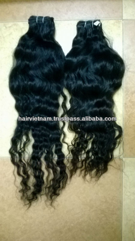 Online Sale Best Factory Price 100% Vietnamese Natural Wavy Human Hair Machine Weft