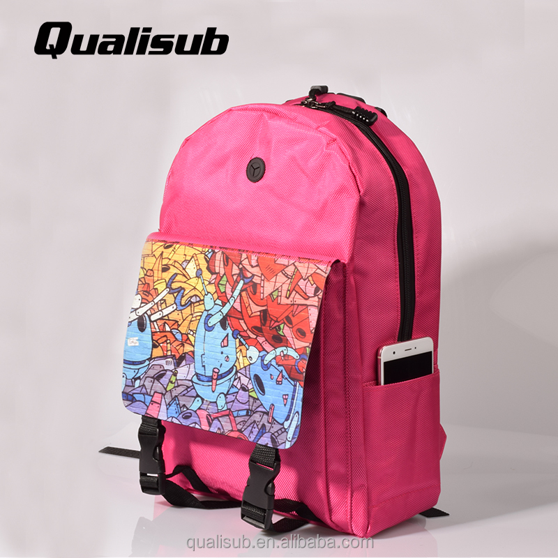 78b48960b60a Qualisub High Quality Blank Sublimation School Bag Laptop Bag Backpack