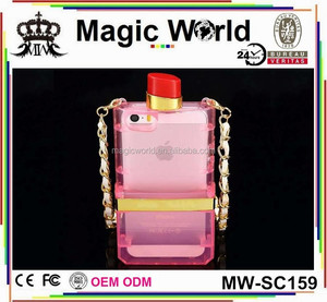 TPU CHAIN PERFUME BOTTLE COVER FOR IPHONE 5S
