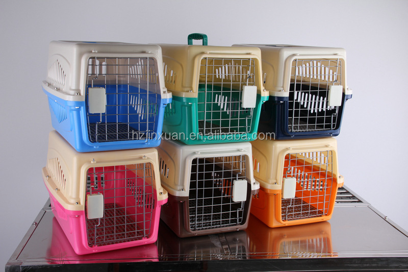various size air dog carrier, eco-friendly pet transport plastic carrier