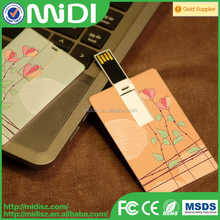 Factory Price Credit Card Shape USB Memory Stick, New Business Gift Credit Card USB Flash,New Customize Design
