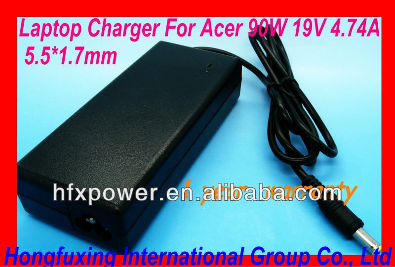 Laptop Charger For Acer laptop /notebook 90W 19V 4.74A 5.5*1.7mm