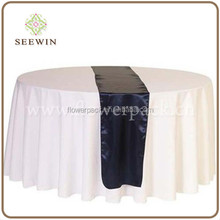 elegant red satin cheap wedding/banquet table runners size 30*2750cm