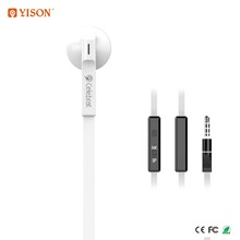Best Selling 3.5mm Mono Earphones With Mic Flat Cable Single Sided Earphone in Dubai