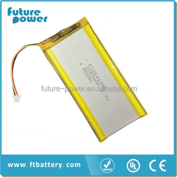 Best quality battery 3.7v 3500mah portable dvd player 7.4v battery