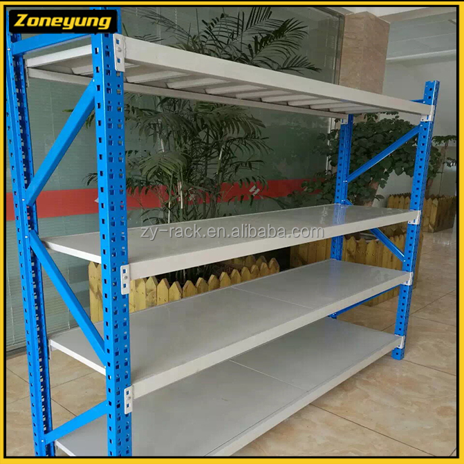 Good and easy assembled storage used medium-duty rack for shopping mall