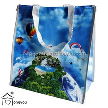 eco friendly laminated PP woven shopping tote bag