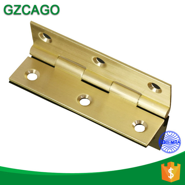 High quality small furniture 1 inch brushed brass hinges for jewelry box