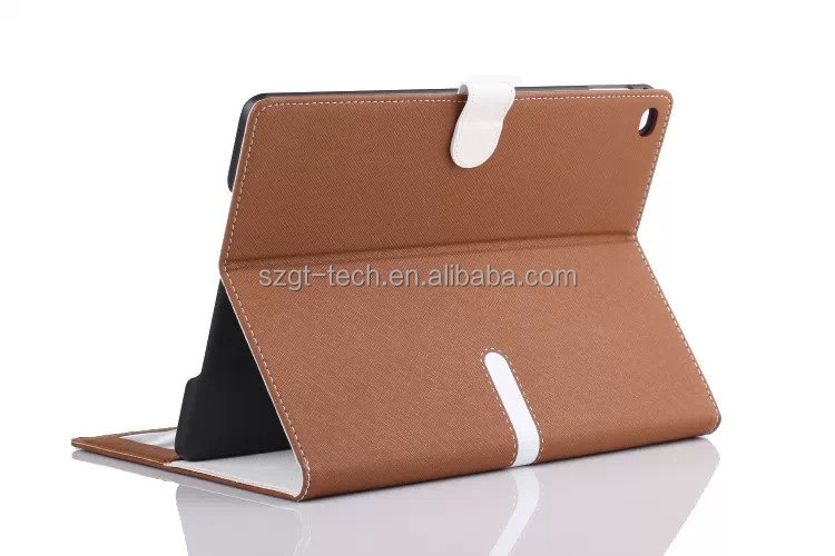 New design cross line flip cover case for ipad air 2 rugged table case,for ipad cooling case