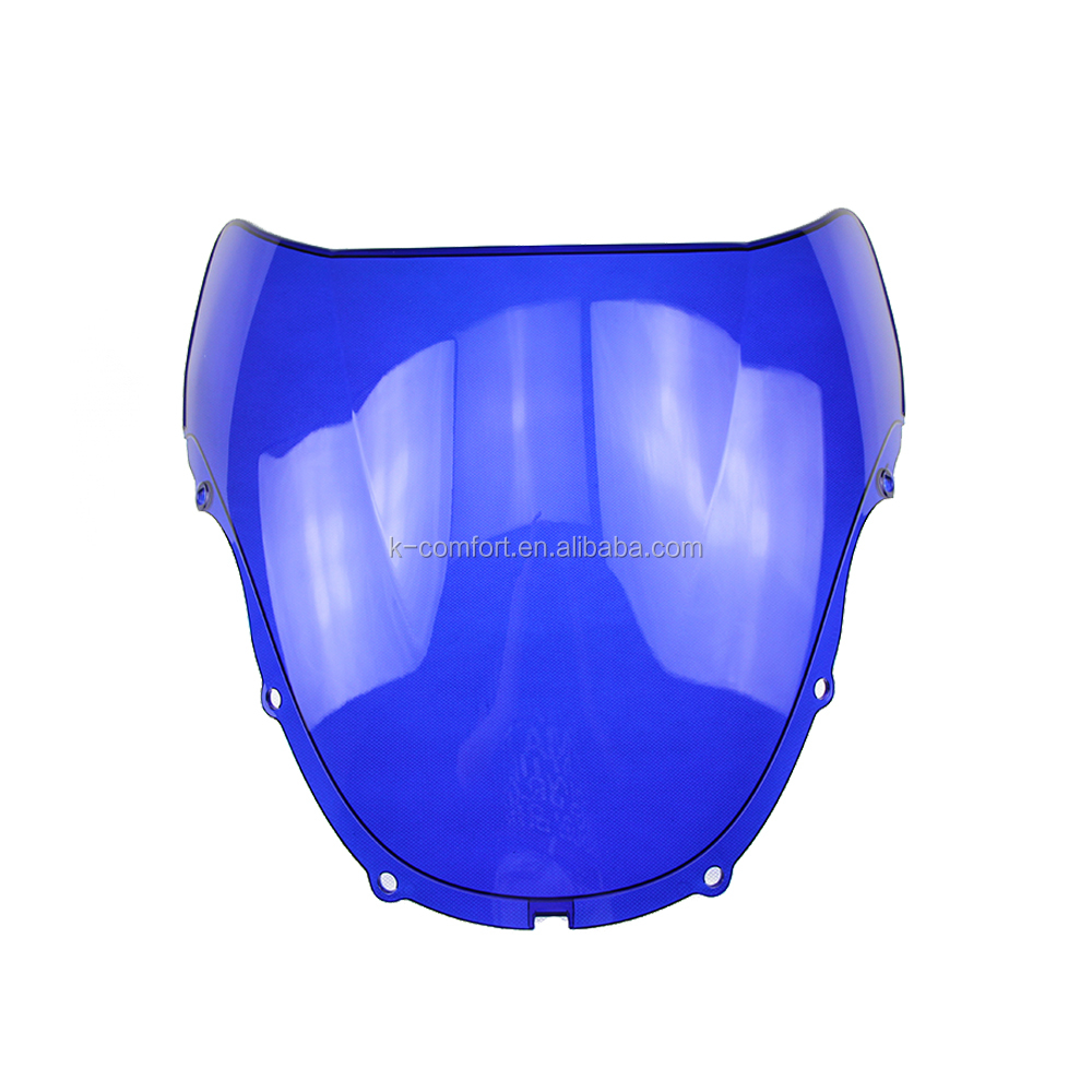 KC17WS35 Blue Motorcycle Windshield Motorbike Windscreen Sport Bike Screen Protector 1999 2000 fit for Honda CBR600 F4 99-00