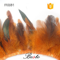 Wholesale plume fringe cheap natural rooster feather trims