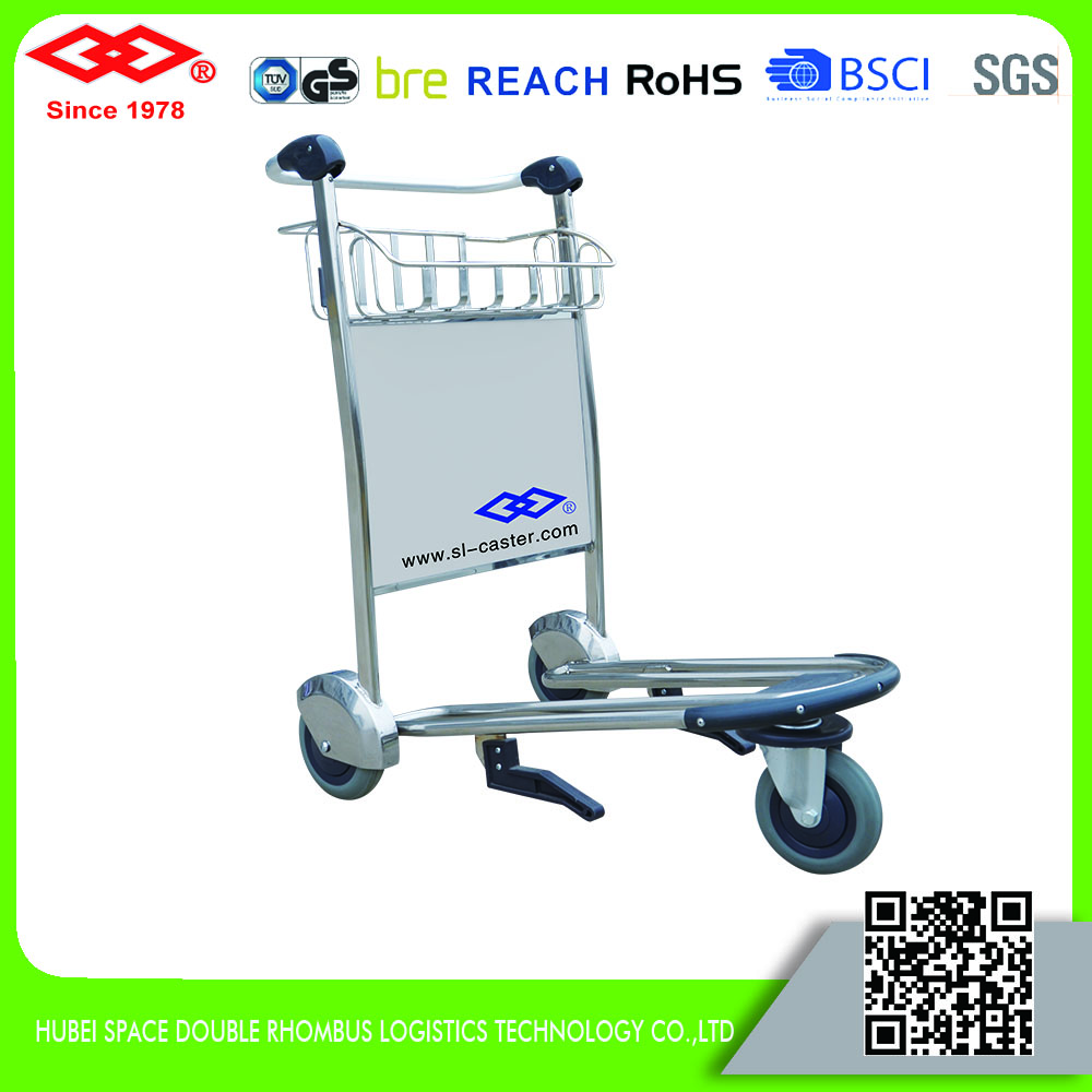 Wholesale high quality airport luggage trolley with brake