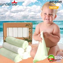 2017 Amazon Best Selling - Absorbent For Baby's Sensitive Skin , Soft Bamboo Washcloths & towels , wash cloth