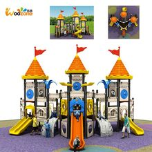 2017 children rubber tiles promotional castle giant outdoor playground