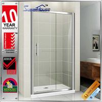 AS2047 AS/NZS2208 Australian standard bathroom sliding glass frameless shower doors with 10years warranty