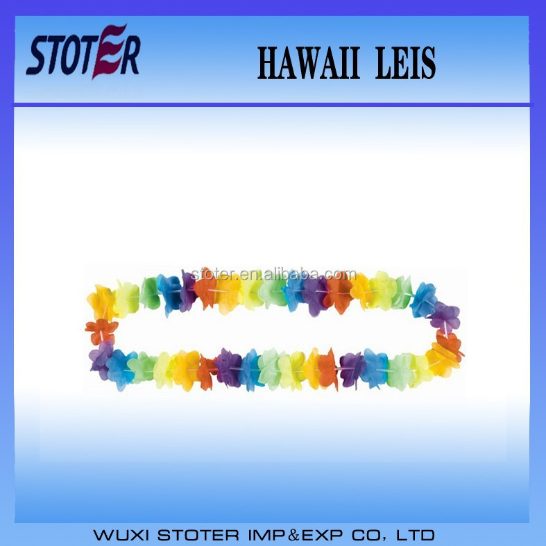 Promotional Hawaii Lei For Party rainbow Colorful hawaii lei for activity