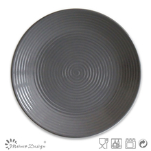 10.5inch dark grey color glazed cheap ceramic dinner plates,ceramic plates and cups,ceramic appetizer plate