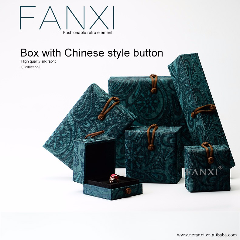 FANXI China Custom Logo exquisite design jewelry ring bangle box For Gift Showcase Packaging necklace Boxes