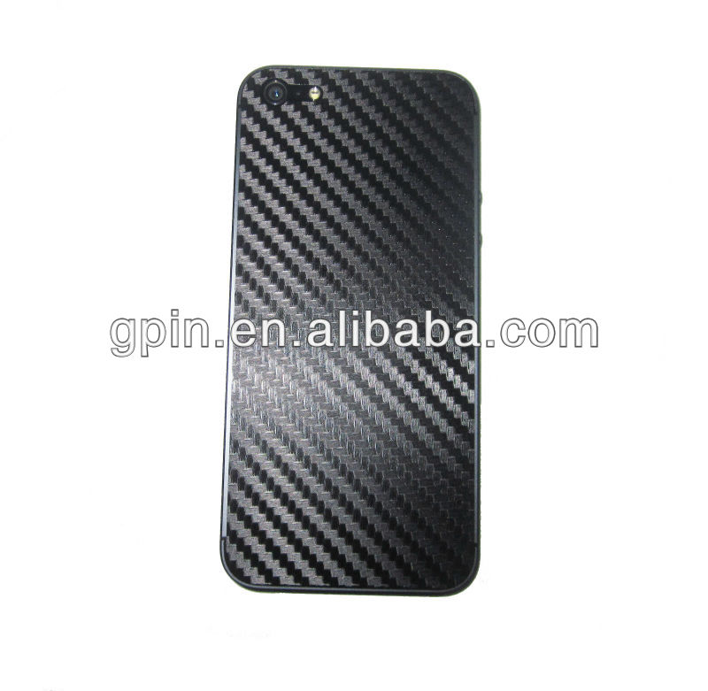 Carbon fiber back protector film for iphone 5