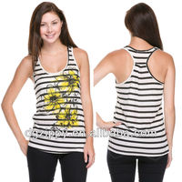 Stripe top with flowwer print india wholesale clothing