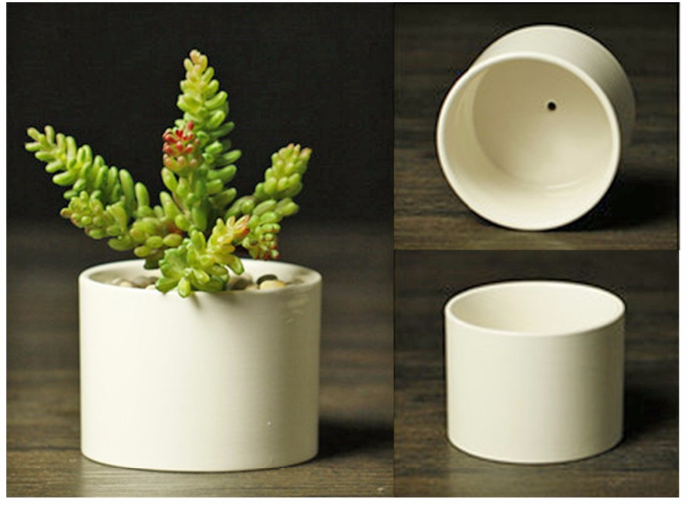 Low Moq White Small Ceramic Flower Pot Wholesale Succulent