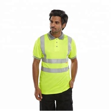 Wholesale 100% Polyester lime color hi viz reflective <strong>safety</strong> shirts