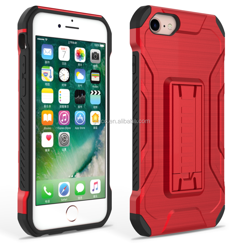 2017 new anti shock kickstand slim armor case for iphone 7