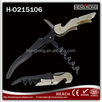 New Hot Sell Alibaba Com China Golden Color Gift Opener With Corkscrew