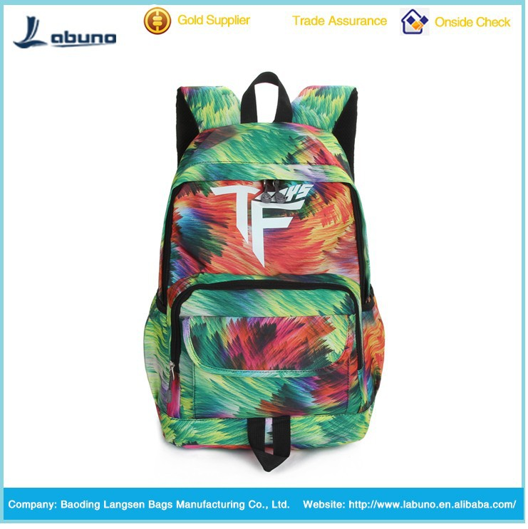 Fashion waterproof girls travel backpack for teens